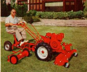 model VB with reel mowers and gang mowers