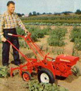 model A with cultivator