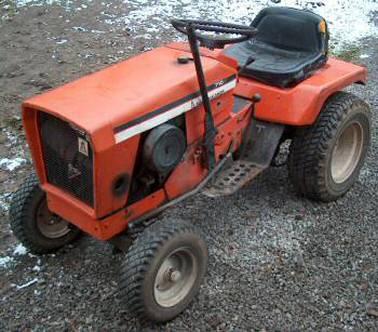 pictures of garden tractors on